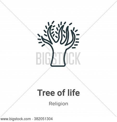 Tree of life icon isolated on white background from religion collection. Tree of life icon trendy an