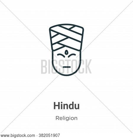 Hindu icon isolated on white background from religion collection. Hindu icon trendy and modern Hindu