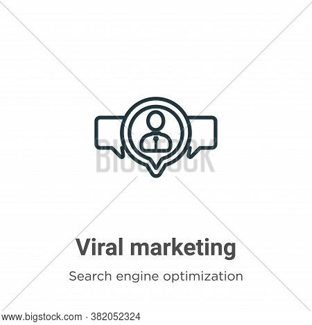 Viral marketing icon isolated on white background from search engine optimization collection. Viral