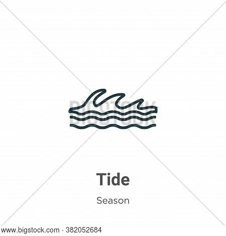 Tide icon isolated on white background from season collection. Tide icon trendy and modern Tide symb