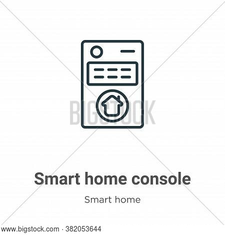 Smart home console icon isolated on white background from smart home collection. Smart home console