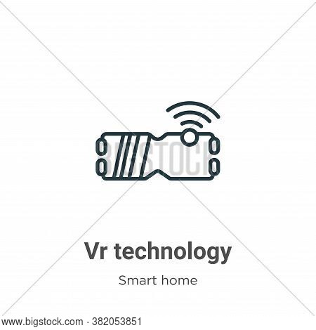 Vr technology icon isolated on white background from smart home collection. Vr technology icon trend