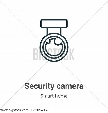 Security camera icon isolated on white background from smart house collection. Security camera icon