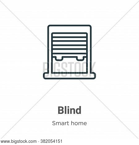 Blind icon isolated on white background from smart house collection. Blind icon trendy and modern Bl