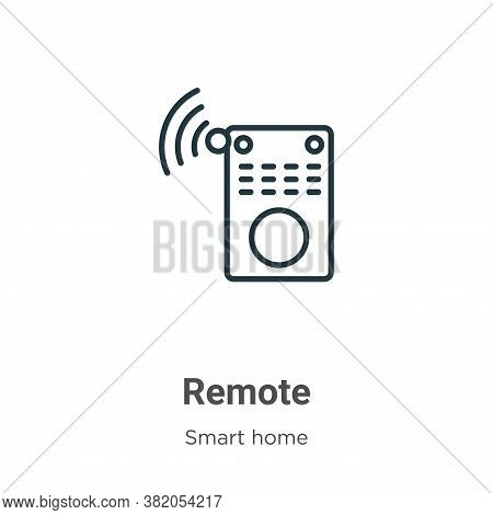 Remote icon isolated on white background from smart house collection. Remote icon trendy and modern
