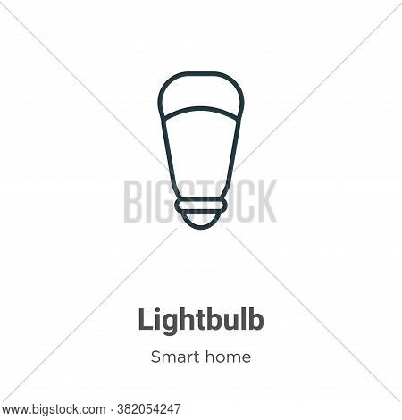 Lightbulb icon isolated on white background from smart house collection. Lightbulb icon trendy and m