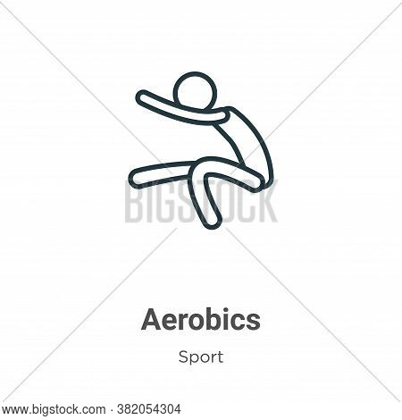 Aerobics Icon From Sport Collection Isolated On White Background.