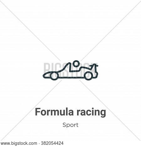 Formula racing icon isolated on white background from sport collection. Formula racing icon trendy a