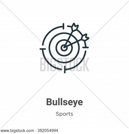 Bullseye Icon From Sports Collection Isolated On White Background.