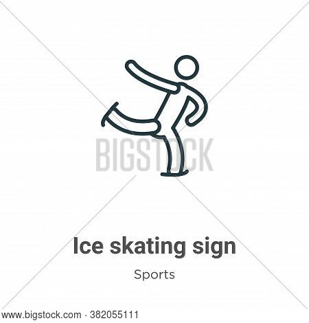 Ice skating sign icon isolated on white background from sports collection. Ice skating sign icon tre