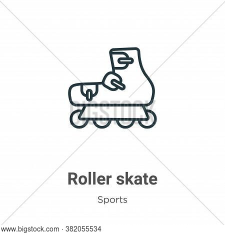 Roller skate icon isolated on white background from sports collection. Roller skate icon trendy and