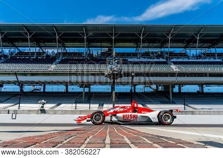 August 21, 2020 - Indianapolis, Indiana, USA: MARCUS ERICSSON (8) of Kumla, Sweden   practices for the Indianapolis 500 at the Indianapolis Motor Speedway in Indianapolis, Indiana.