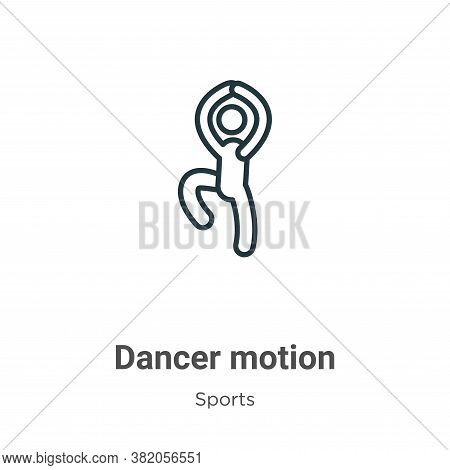 Dancer motion icon isolated on white background from sports collection. Dancer motion icon trendy an