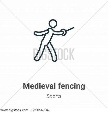 Medieval fencing icon isolated on white background from sports collection. Medieval fencing icon tre
