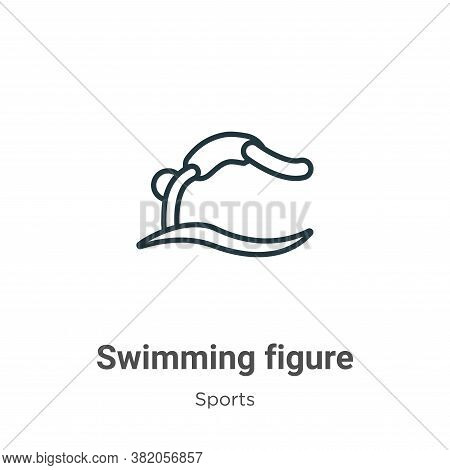Swimming figure icon isolated on white background from sports collection. Swimming figure icon trend