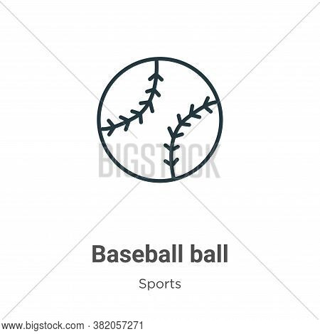 Baseball ball icon isolated on white background from sports collection. Baseball ball icon trendy an