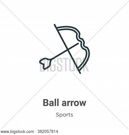 Ball arrow icon isolated on white background from sports collection. Ball arrow icon trendy and mode