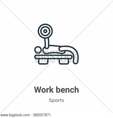 Work bench icon isolated on white background from sports collection. Work bench icon trendy and mode