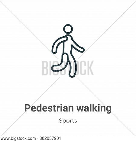 Pedestrian walking icon isolated on white background from sports collection. Pedestrian walking icon