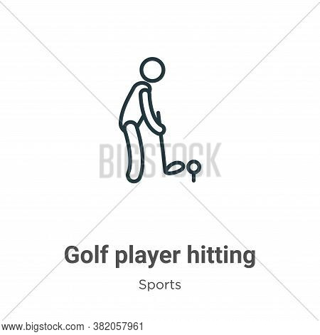 Golf Player Hitting Icon From Sports Collection Isolated On White Background.