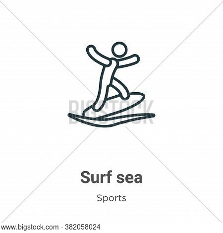 Surf sea icon isolated on white background from sports collection. Surf sea icon trendy and modern S