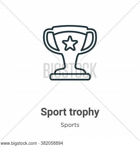 Sport trophy icon isolated on white background from sports and competition collection. Sport trophy