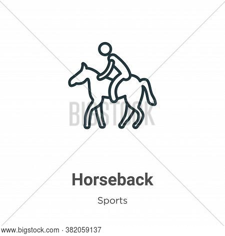 Horseback icon isolated on white background from sports and competition collection. Horseback icon t