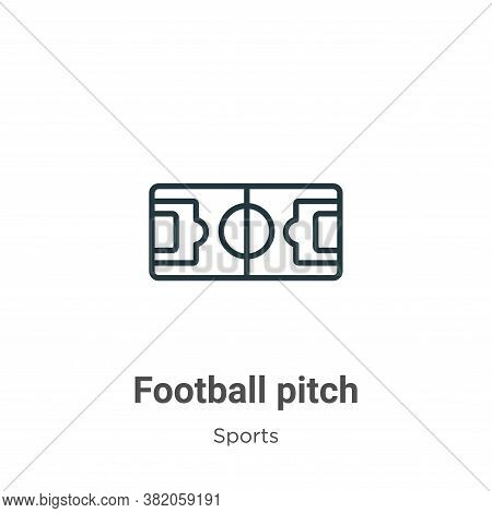 Football pitch icon isolated on white background from sports and competition collection. Football pi