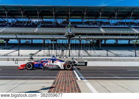 August 21, 2020 - Indianapolis, Indiana, USA: TONY KANAAN (14) of Salvador, Brazil   practices for the Indianapolis 500 at the Indianapolis Motor Speedway in Indianapolis, Indiana.
