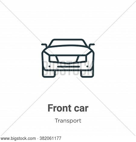 Front car icon isolated on white background from transport collection. Front car icon trendy and mod