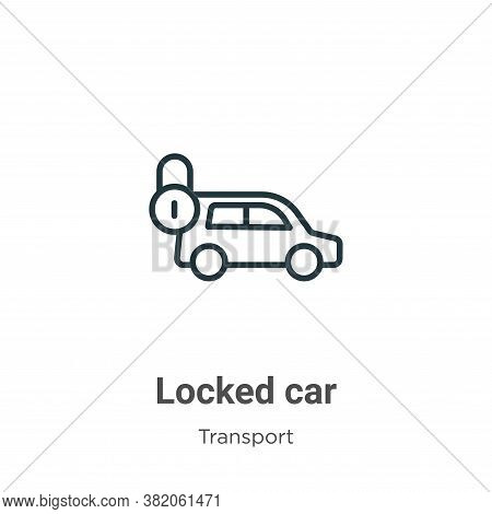 Locked car icon isolated on white background from transport collection. Locked car icon trendy and m