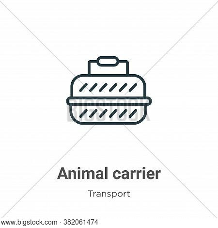 Animal carrier icon isolated on white background from transport collection. Animal carrier icon tren