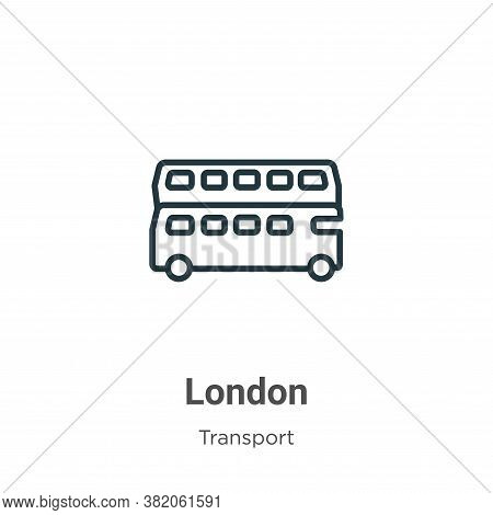 London icon isolated on white background from transport collection. London icon trendy and modern Lo