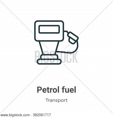 Petrol fuel icon isolated on white background from transport collection. Petrol fuel icon trendy and