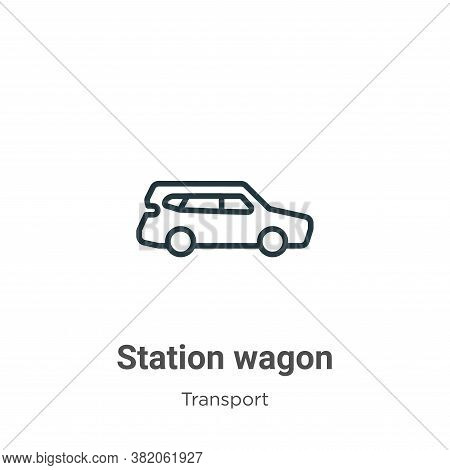 Station wagon icon isolated on white background from transport collection. Station wagon icon trendy