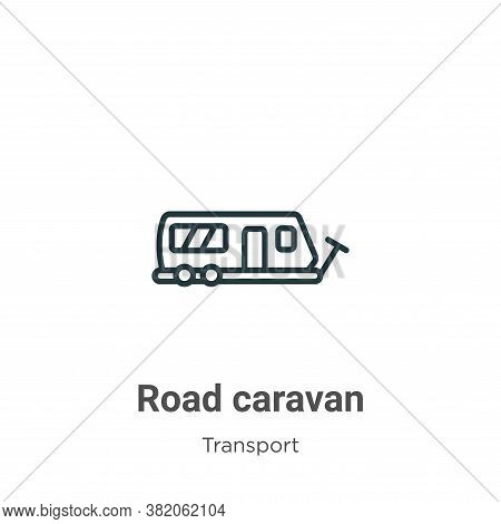 Road caravan icon isolated on white background from transport collection. Road caravan icon trendy a