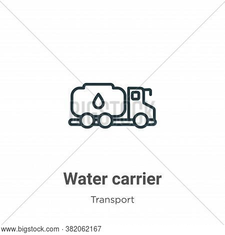 Water carrier icon isolated on white background from transport collection. Water carrier icon trendy