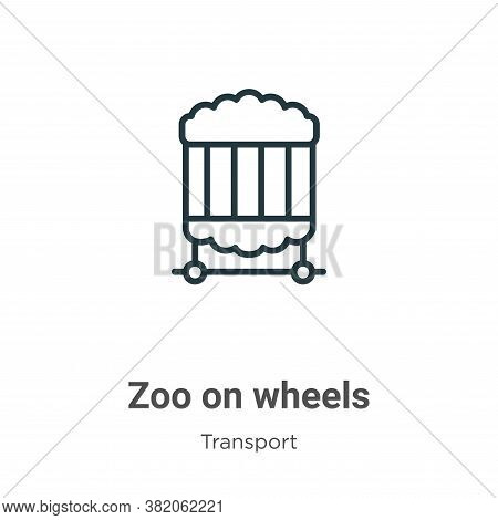 Zoo on wheels icon isolated on white background from transport collection. Zoo on wheels icon trendy