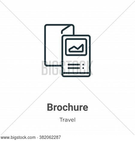 Brochure icon isolated on white background from travel collection. Brochure icon trendy and modern B