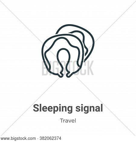 Sleeping signal icon isolated on white background from travel collection. Sleeping signal icon trend