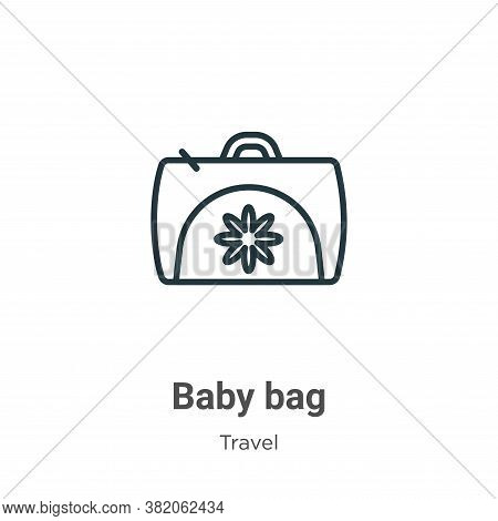 Baby bag icon isolated on white background from travel collection. Baby bag icon trendy and modern B
