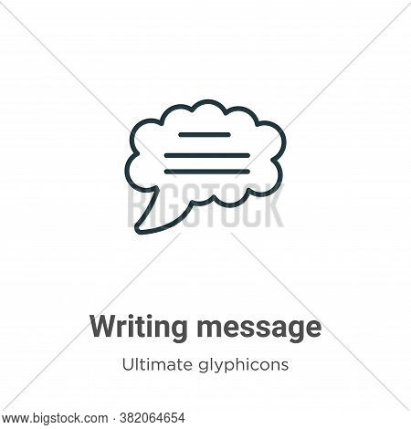 Writing message icon isolated on white background from ultimate glyphicons collection. Writing messa