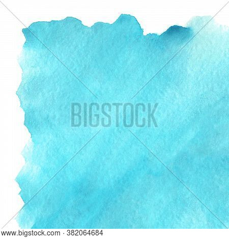 Watercolor Cyan Blue Sky Water Sample Texture Backdrop Background