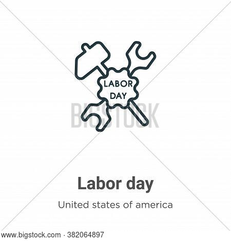 Labor day icon isolated on white background from united states of america collection. Labor day icon