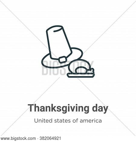 Thanksgiving day icon isolated on white background from united states of america collection. Thanksg