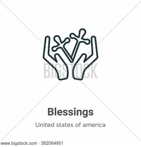 Blessings icon isolated on white background from united states of america collection. Blessings icon