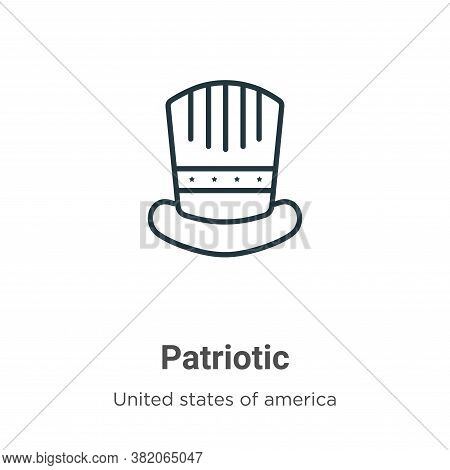 Patriotic icon isolated on white background from united states of america collection. Patriotic icon
