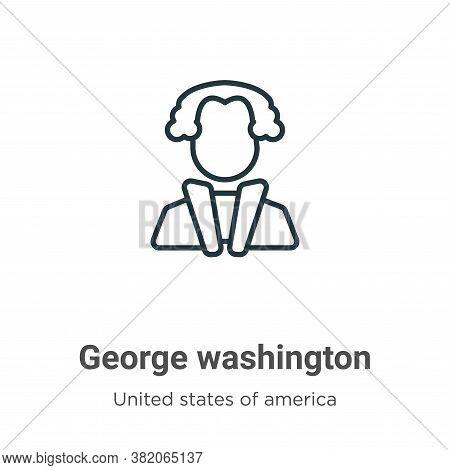 George washington icon isolated on white background from united states collection. George washington