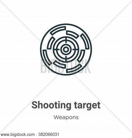 Shooting target icon isolated on white background from weapons collection. Shooting target icon tren