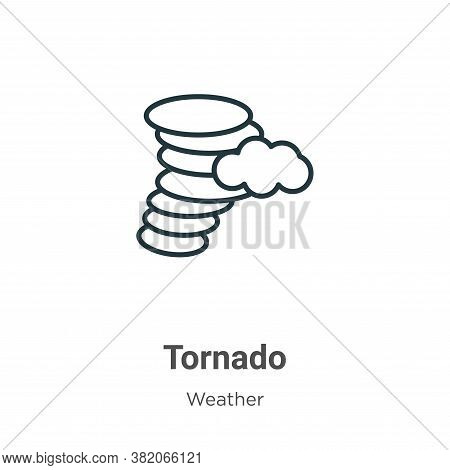 Tornado icon isolated on white background from weather collection. Tornado icon trendy and modern To